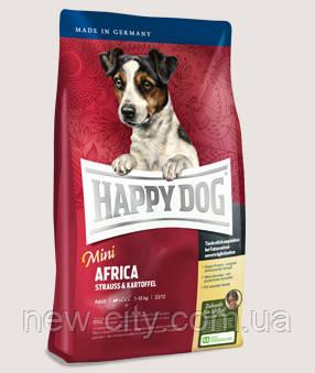 Корм для собак Happy Dog (Хэппи Дог) Mini Africa  для мелких пород (мясо страуса+картофель), 1 кг
