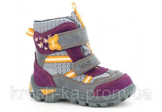Ботинки для девочки зимние Sympatex (21,22) р (Бартек)Bartek Польша серые 91928-808