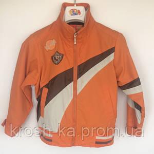 Куртка-ветровка для мальчика оранжевая Cofee Beans (122)р Vilen Китай 5515