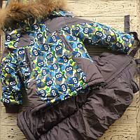 Комплект (куртка+полукомбинезон) для мальчика Vilen Китай серый 3325