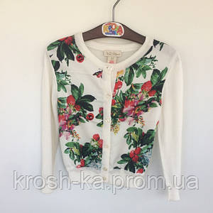 Кофта для девочки цветочный принт (98)р Корея 0084