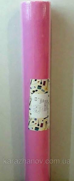 Простынь одноразовая, в рулоне из нетканого материала, спанбонд  0,8м*100п.м. розовая
