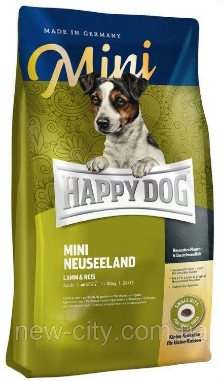 Корм для собак Happy Dog (Хэппи Дог) Mini Neuseeland Полнорационный корм для взрослых собак мини пород 4кг