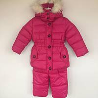 Комплект (куртка+полукомбинезон) на биопухе Moncler для девочки Moncler Китай малиновый 1412