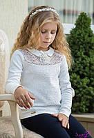 Блуза школьная трикотажная для девочки Самира  (146 размер) (Suzie)Сьюзи Украина молочная КФ-19703