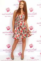Женская одежда платье Evona Франция цветочное котонн 61476