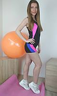 Женский комплект спортивной одежды с разноцветными вставками для фитнеса 40-48р