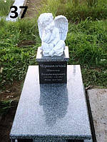 Дитячий пам'ятник з янгол'ятком та квітник закритий із граніту на могилу