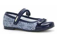 Туфли для девочки (35-38) р (Бартек)Bartek Польша синие 38865-1CT