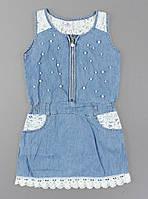 {есть:4 года,8 лет} Платье джинсовое для девочек Seagull,  [4 года], фото 1