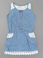 {есть:4 года 104 СМ,8 лет 128 СМ} Платье джинсовое для девочек Seagull, Артикул: CSQ57022 [4 года 104 СМ]