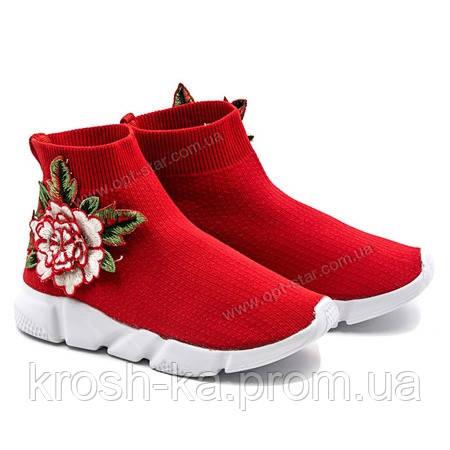 Кроссовки-башилы  для девочки красный цветок Balenciage (28,28,34) р Cosby Китай 200-26
