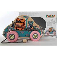 Игрушки Для самых маленьких Каталка деревянная детская Levenya Cubika Украина 12039
