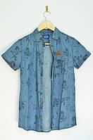 Рубашка для мальчика короткий рукав Tiffosi Португалия синий 5112