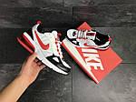 Мужские кроссовки Nike (бело-красные), фото 3