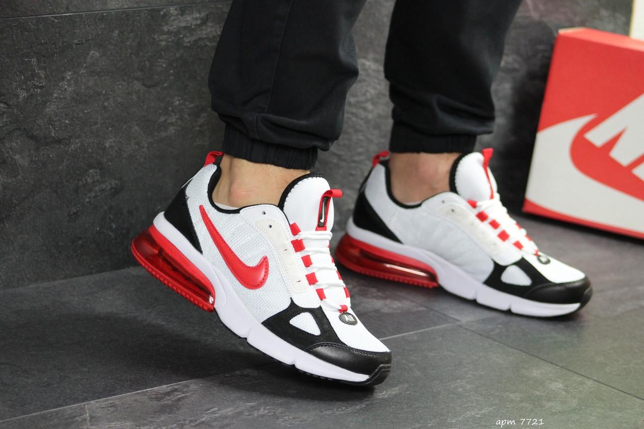 Мужские кроссовки Nike (бело-красные)