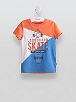 Футболка детская Бемби Украина сине-оранжевая для мальчика ФБ526