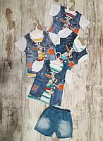 Детский летний костюм, для мальчиков 1-3 года