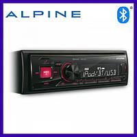 Автомагнитола с Bluetooth  Alpine UTE-72BT. Магнитола автомобильная. Автозвук (Альпайн с блютуз)