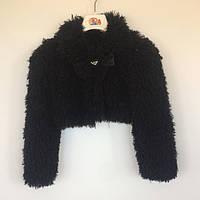Болеро для девочки меховое Marions Турция чёрный 8144-5