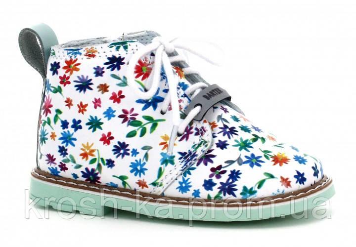Ботинки для девочки демисезонные (25 размер) (Бартек)Bartek Польша белые 81852-1F4, фото 1