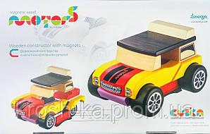 Машина Мини-кабриолет деревянная Levenya Cubika Украина 12060