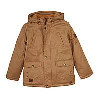 Куртка детская парка для мальчика Бемби Украина песочная КТ172
