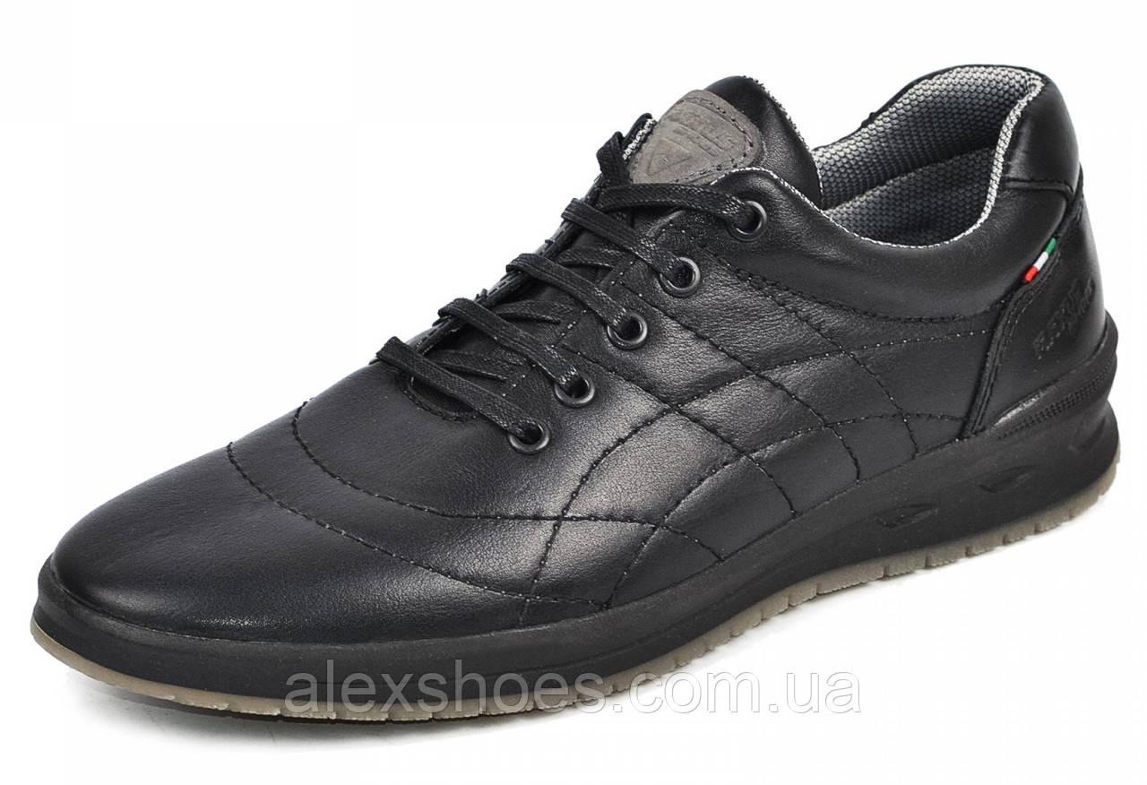 Туфли мужские спортивные из натуральной кожи от производителя модель МАК766