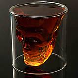 Стакан для алкоголя Череп Doomed 75 мл, фото 4
