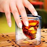 Стакан для алкоголя Череп Doomed 75 мл, фото 5