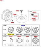 Диск колеса легкоспл. кіа Спортейдж 4 R17x7J, KIA Sportage 2019- QLs, 52910f1210pac, фото 5