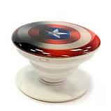 """Попсокет PopSocket 3D 3D """"Капитан Америка"""" №34 - Держатель для телефона Поп Сокет в блистере с липучкой 3М, фото 2"""