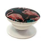 """Попсокет PopSocket 3D """"Фламинго"""" №6 - Держатель для телефона Поп Сокет в блистере с липучкой 3М, фото 2"""