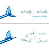 Самолет планер светящийся из пенопласта, 48 см Синий, фото 6
