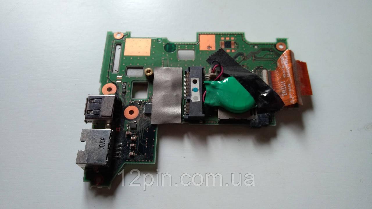 Дополнительная плата USB и LAN ноутбука Fujitsu Lifebook P770 б.у. оригинал