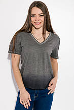 Женская футболка, топ , эффект Омбрэ 516F063 (Серо-грифельный)