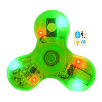 Спиннер Spinner пластиковый с LED + Музыка через Bluetooth Зеленый №194