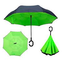 Зонт обратного сложения Up-brella Зеленый №48