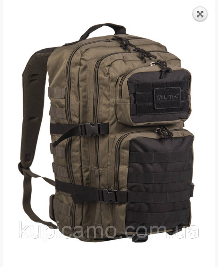 "Рюкзак ""Mil-tec"" ASSAULT pack LG MOLLY RANGER GREEN/BLACK 36л"