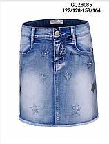 Джинсовая юбка для девочек оптом, размеры 122/128-158/164, Glo-Story, арт. GQZ-8085