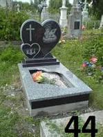 Дитячий пам'ятник серце із сірого та чорного граніту