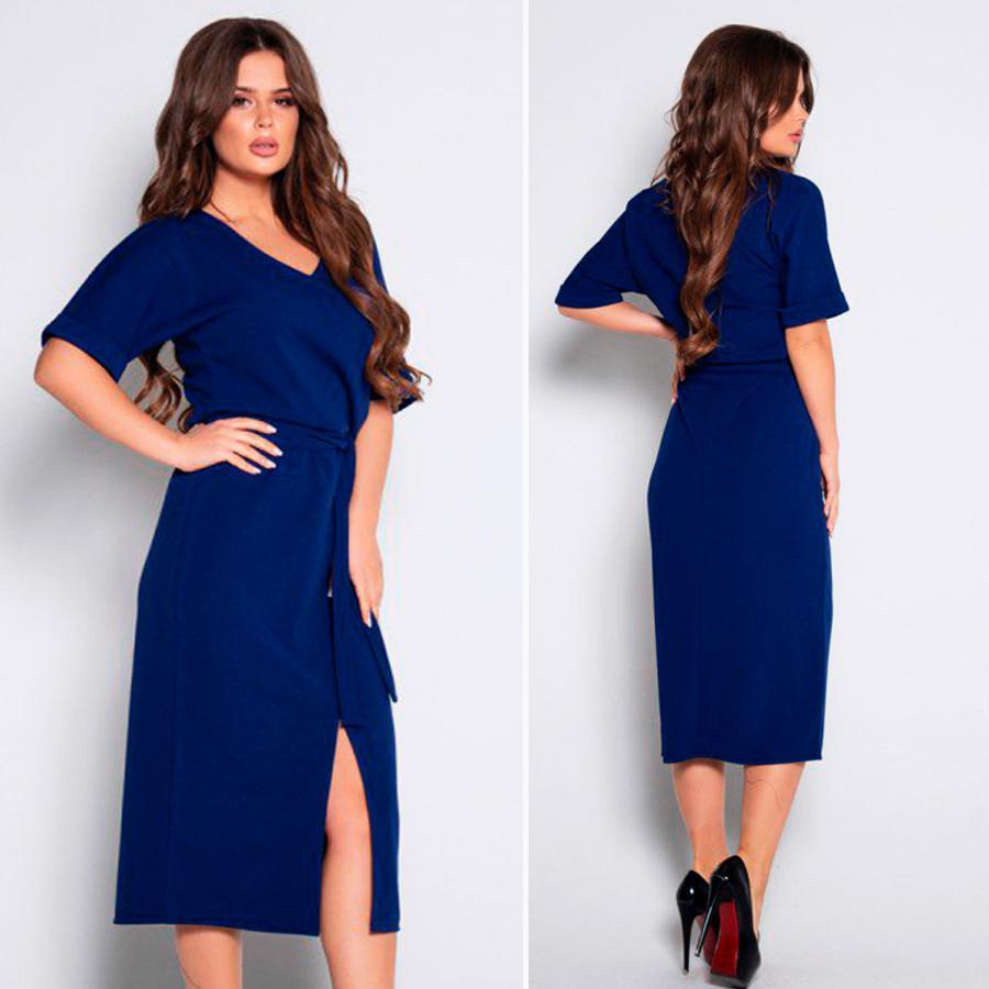 Платье цвета электрик  10494