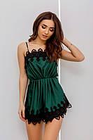 Платье для сна изумрудного цвета