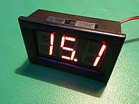Цифровой вольтметр DC 4.5 - 30 вольт, красный, корпусной, фото 1