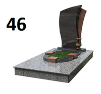 Дитячий елітний пам'ятник на могилу із покстівського граніту комплект