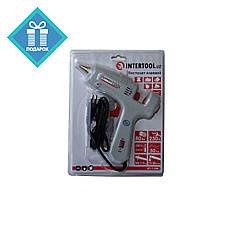 Пистолет клеевой 80Вт 10.8-11.5мм с выключателем INTERTOOL RT-1104