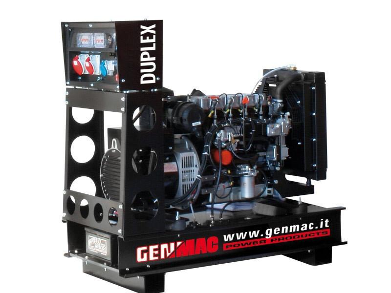 Однофазный дизельный генератор Genmac Duplex RG15PO (14 кВт)