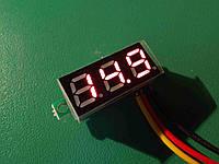 Цифровой вольтметр DC 0 - 100 вольт, красный трехпроводной