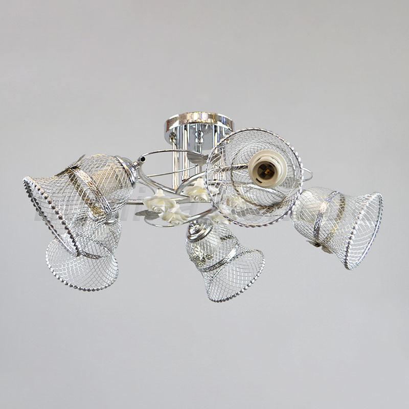 Люстра потолочная на пять ламп 29-E257/5CR