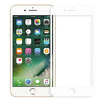 Защитное стекло для iPhone 7 Plus/8 Plus, 5D, белое Full Glue
